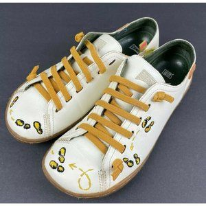 Camper Twins Womens Shoes 37 Embroidered Feet